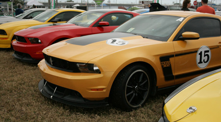 mustang corral at the rolex 24 in daytona 2012