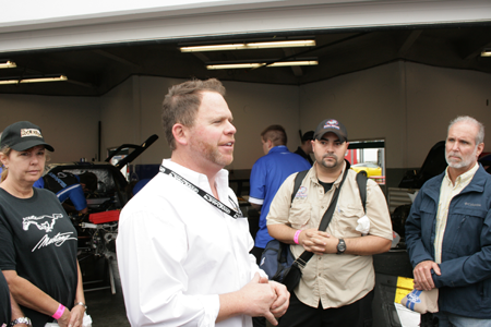 Michael Shanks from MSR leading tour for the Mustang Corral at Rolex 24 in Daytona