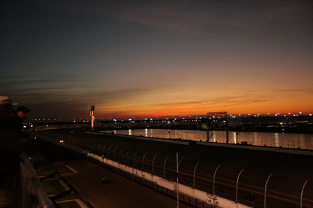 Budweiser Part Porch at sunset for the Rolex 24 at Daytona, 2012