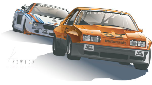 1980 M81 McLaren Mustang racing at Daytona