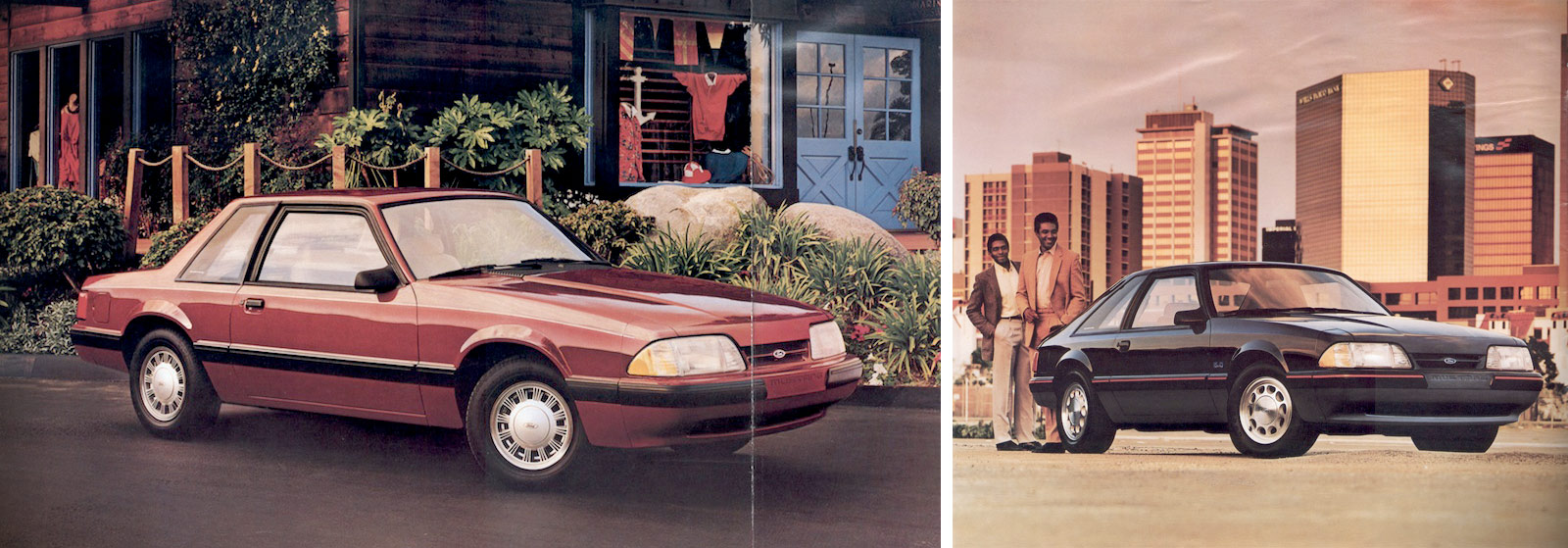 1987 Mustang LX 5.0l coupe and hatchback